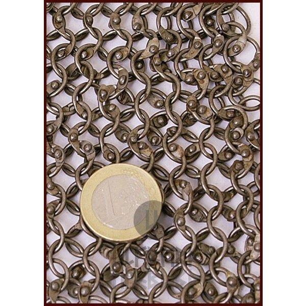 Ulfberth Hauberk z midlength rękawami, okrągłe pierścienie-okrągłe nity, 8 mm