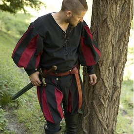 Epic Armoury Landsknecht shirt, black/red