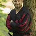 Epic Armoury Landsknecht hemd, zwart / rood