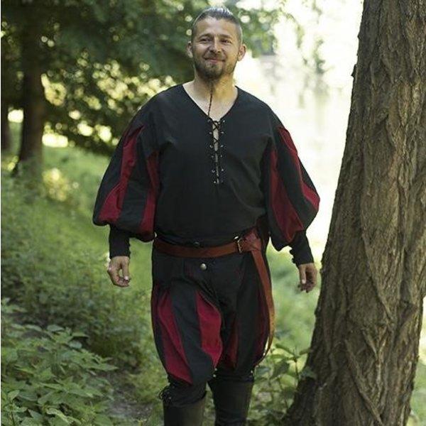 Epic Armoury Landsknecht shirt, black/red