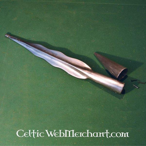 Grot włóczni Celtic płomień