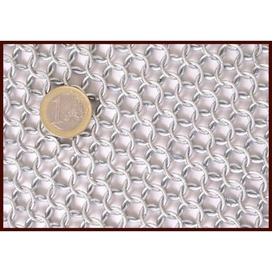 Maliënkolder met korte mouwen, verzinkt, 9 mm