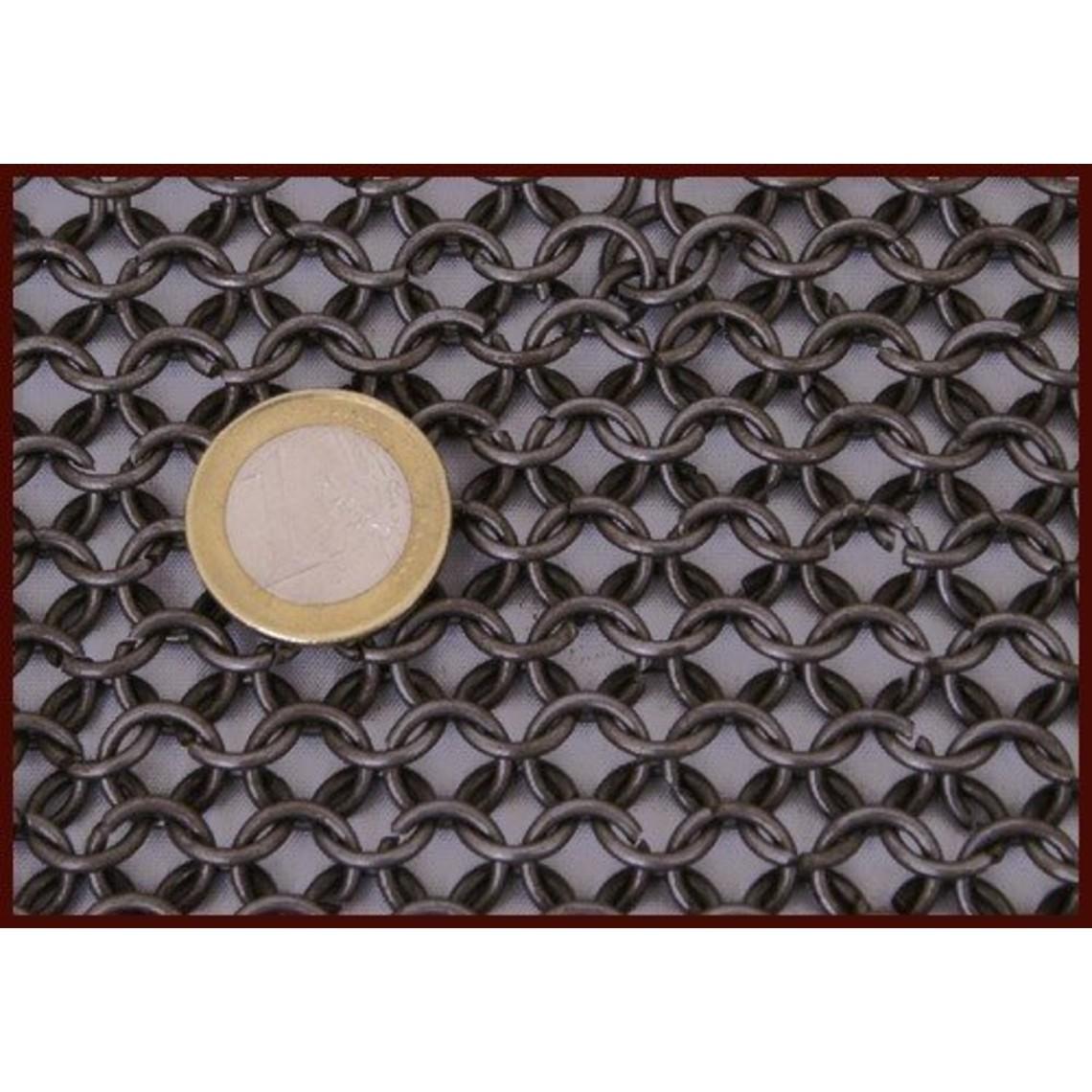 Ulfberth Maliënkolder met lange mouwen, onbehandeld, 8 mm