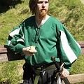 Epic Armoury Landsknecht Hemd, grün / weiß