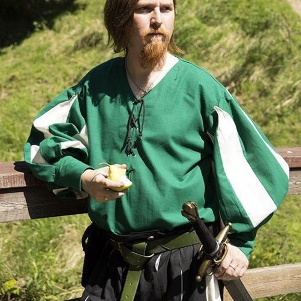 Epic Armoury Landsknecht shirt, green/ white