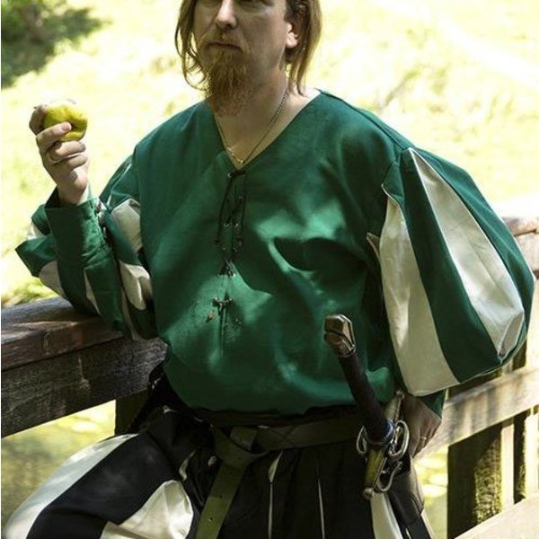 Epic Armoury Landsknecht hemd, groen / wit