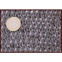 Hauberk with mid-length sleeves, flat rings - wedge rivets, 8 mm