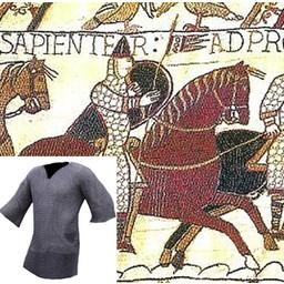 Kettenhemd mit halblangen Ärmeln, gemischten Flachringe-Rundnieten, 8 mm