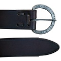 Belt with hand-forged buckle