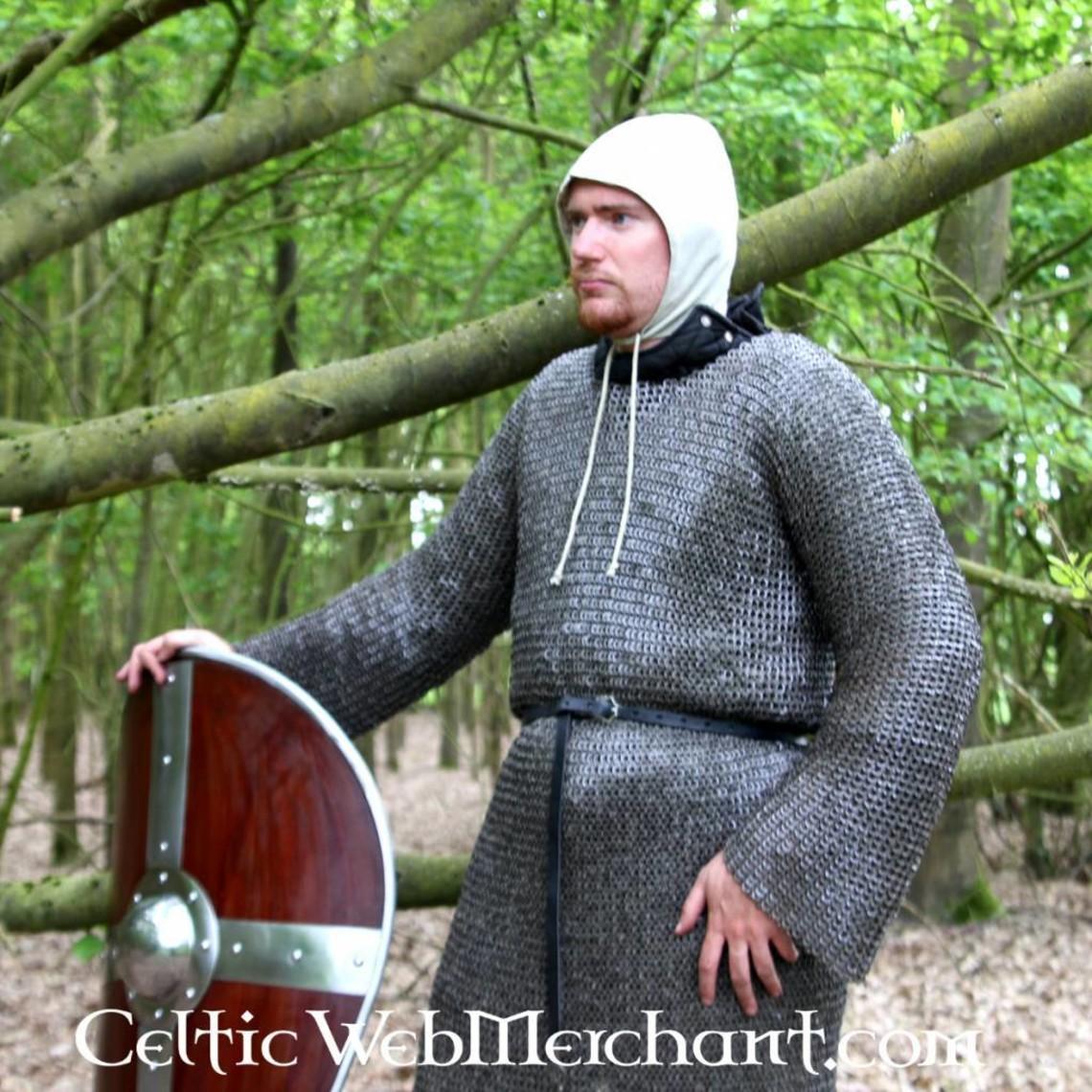 Ulfberth Langärmelig Kettenhemd, Rundringe - Rundnieten, 8 mm