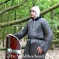 Ulfberth Kolczuga z długimi rękawami, mieszane płaskie Pierścienie-Okrągłe nieskończoności, 8 mM
