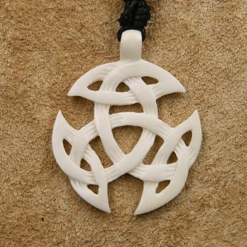 Bone triquetra jewellery
