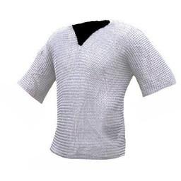 Hauberk with mid-length sleeves, zinc-plated, 8 mm