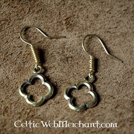 Gothic quatrefoil earrings bronze