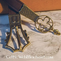 Gothic belt with belt end