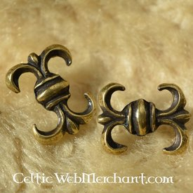 Medieval lily belt fitting (set of 5 pieces)