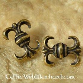 Middelalder lilje bæltedekoration (sæt af 5 stk)