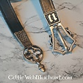 Cinturón gótico con extremo de cinturón, negro