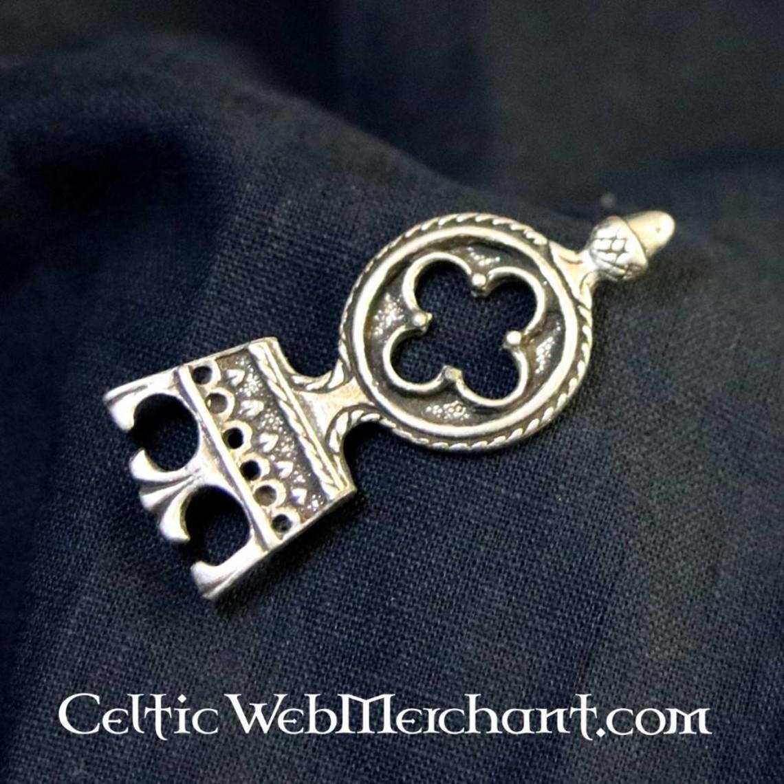 Cinturón gótico extremo 3 cm, plateado