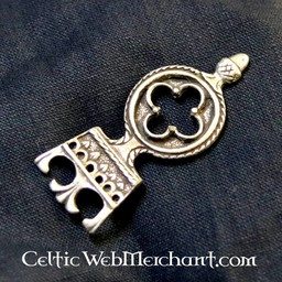 Gotisk bältesände 3 cm, försilvrade