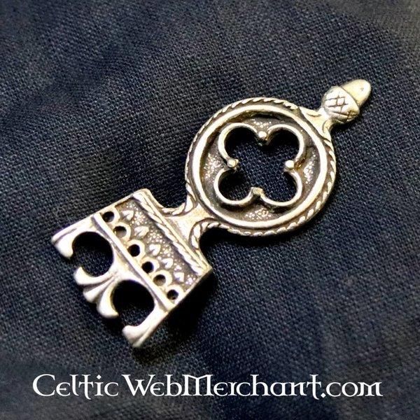Gothic bælteende 3 cm, forsølvet