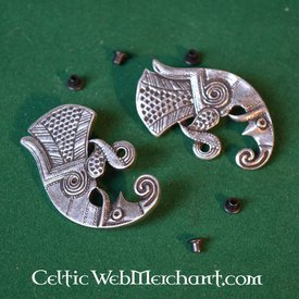 Germanic raven beltfitting migration period pair left and right