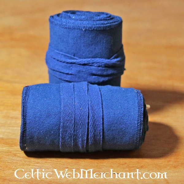 Leg wrappings Ubbe, blue