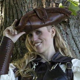 Epic Armoury Tricorne Barbe Noire, marron