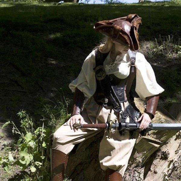 Epic Armoury Tricorn Czarnobrody, brązowy