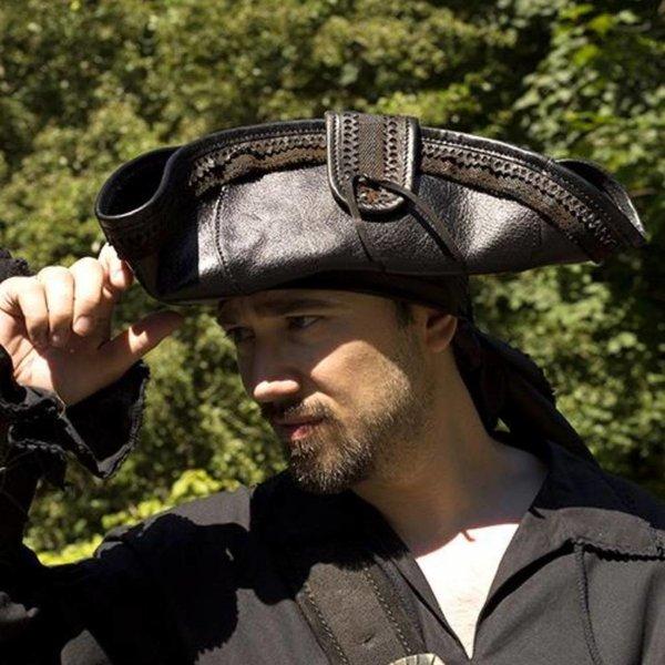 Epic Armoury Tricorn Blackbeard, black