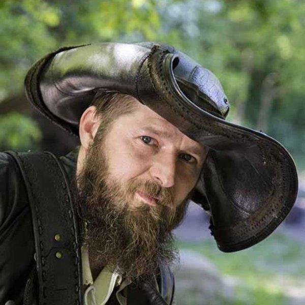 Epic Armoury Tricorn Blackbeard, preto