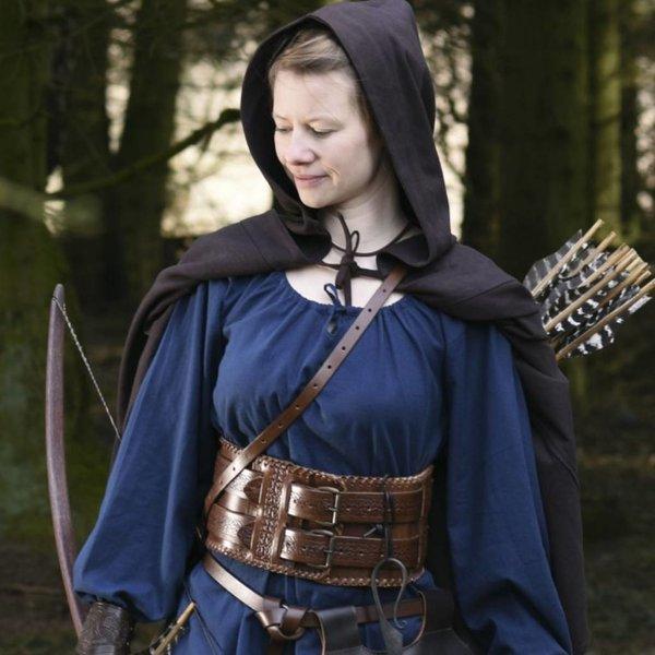 Mittelalterliche Kapuze Oswell, braun