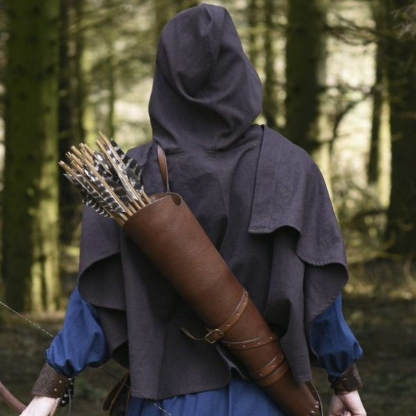 Medieval hood Oswell, brown