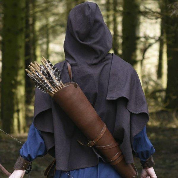 Średniowieczny kaptur Oswell, brązowy