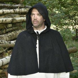 Mittelalterliche Kapuze Oswell, schwarz