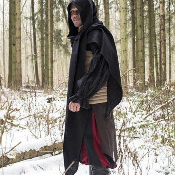 Epic Armoury Hood Assassins Creed, negro