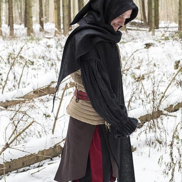 Epic Armoury Hood Assassins Creed, svart