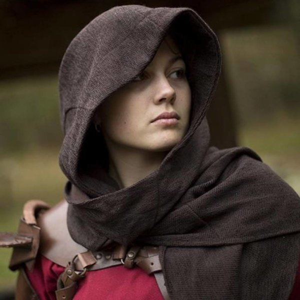 Epic Armoury Hood Assassins Creed, mørkebrun
