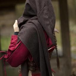 Hood Assassins Creed, dark brown