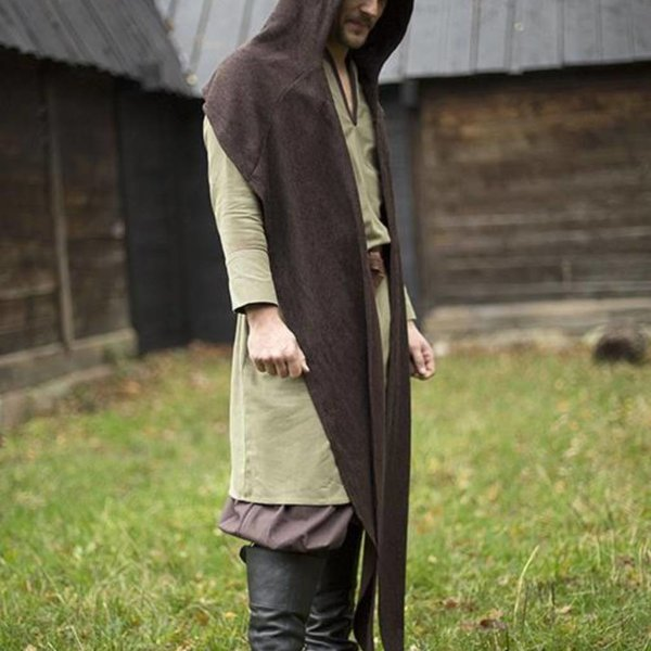Epic Armoury Hood Assassins Creed, dark brown