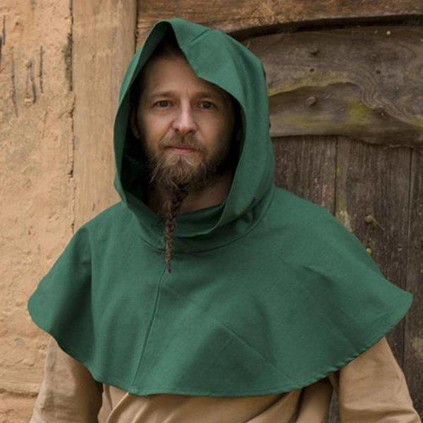 Epic Armoury Medieval chaperon Walt, green