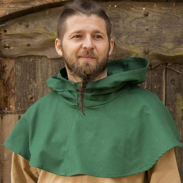 Epic Armoury Medieval chaperon Walt, grøn