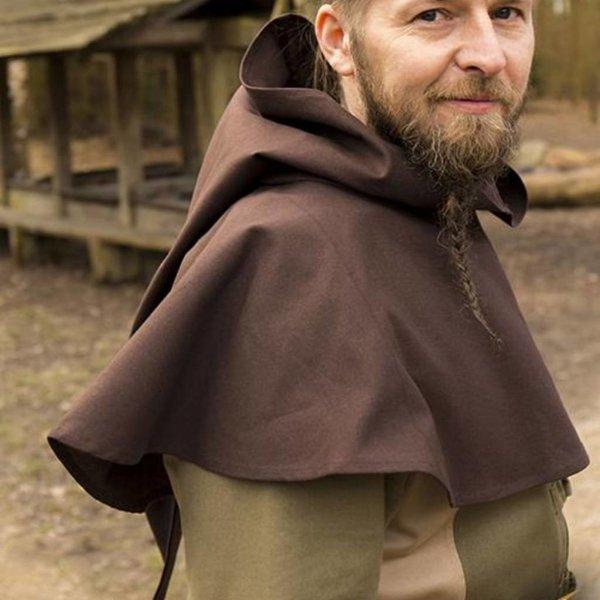 Epic Armoury Średniowieczna chaperon Walt, brązowy