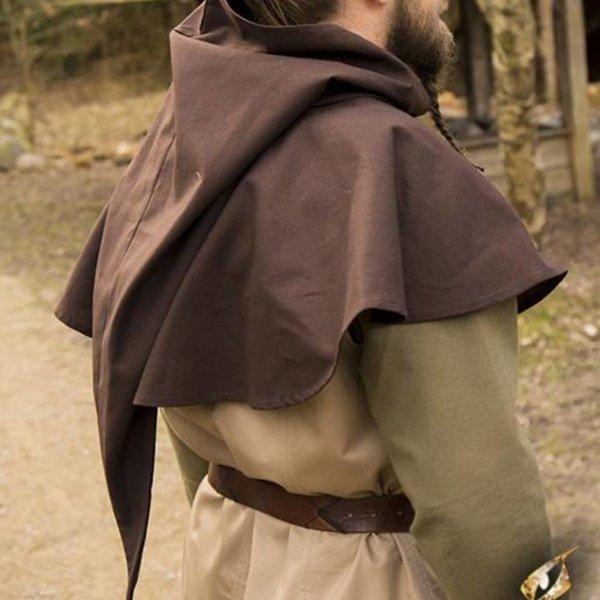 Epic Armoury Medeltida chaperon Walt, brun