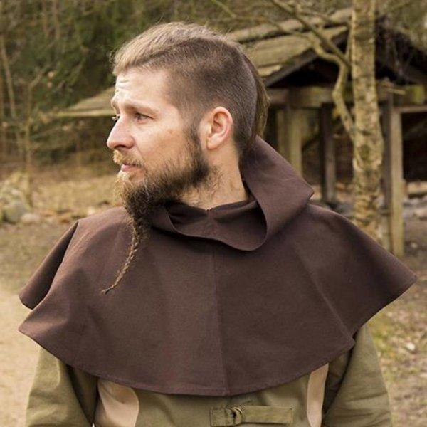 Epic Armoury Medieval Chaperon Walt, braun