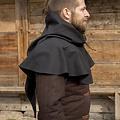 Epic Armoury Chaperon medievale Walt, nero