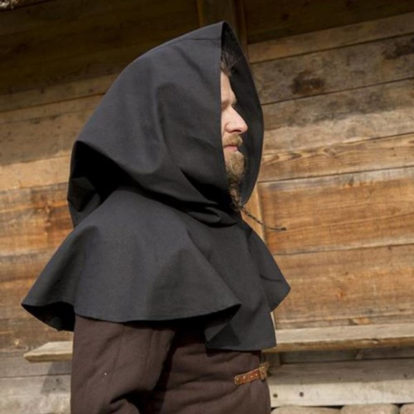 Epic Armoury Middeleeuwse kaproen Walt, zwart