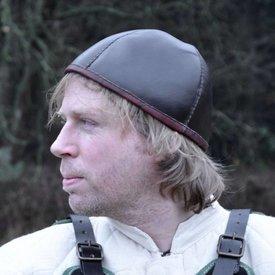 Zabytkowa skórzana czapka
