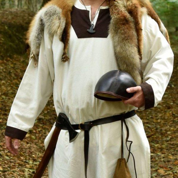 Historiskt läder cap