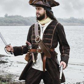 Pirate płaszcz uczyć, brązowy